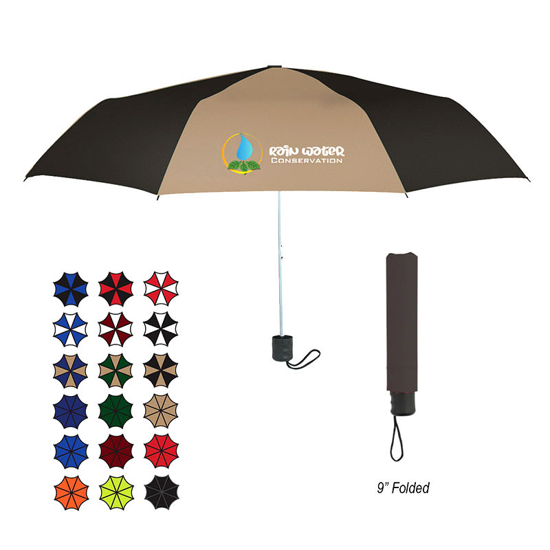 "Custom Umbrellas by TJM Promos - 42"" ARC Budget Telescopic Umbrella"