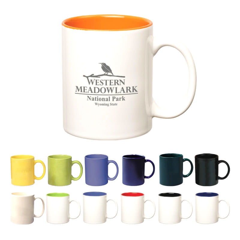 Colored Stoneware Mug With C-Handle by TJM Promos