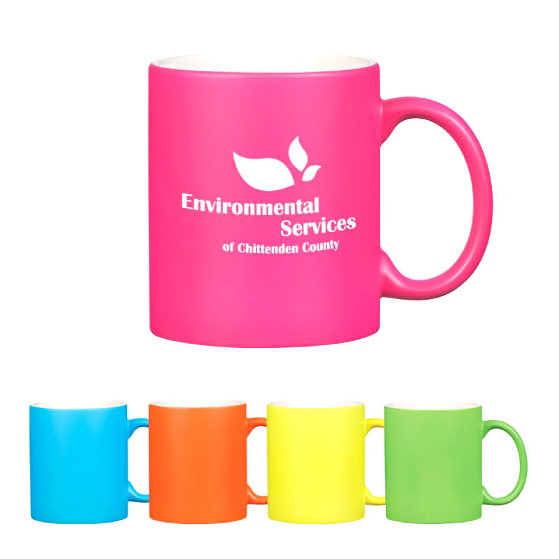 Custom Neon Mug with C Handle by TJM Promos