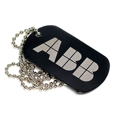 6 Engraved Dog Tags by TJM Promos