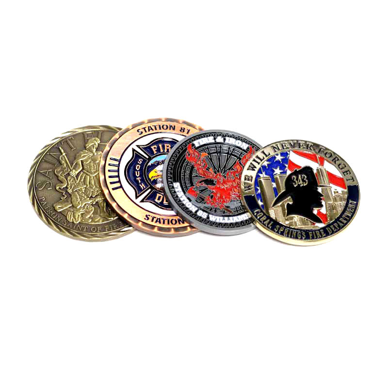 Custom Challenge Coins - Fire Department Challenge Coins by TJM Promos