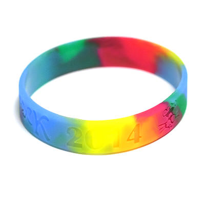 Custom Swirled Wristbands by TJM Promos 6