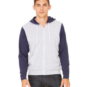 CN POLY/CTN FLCE FULL ZIP HOOD