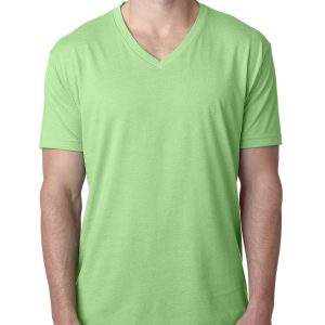 NL MENS CVC V NECK TEE