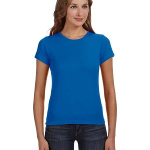 Anvil 1441 - Ladies' 1x1 Baby Rib Scoop T-Shirt