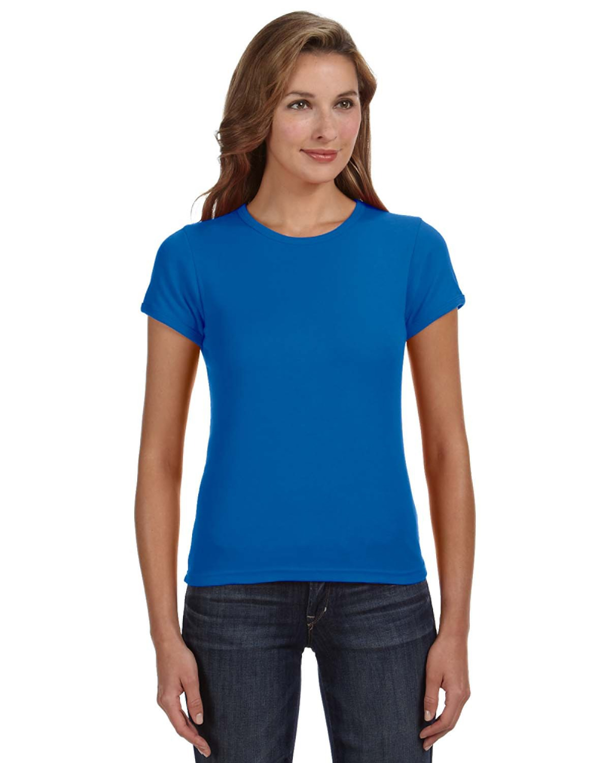 Anvil 1441 – Ladies' 1×1 Baby Rib Scoop T-Shirt 1