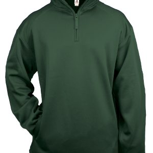 Badger 1480 - Adult Quarter-Zip Polyester Performance Fleece with Hem Bottom