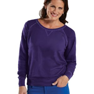 LAT 3762 - Ladies' Slouchy French Terry Pullover