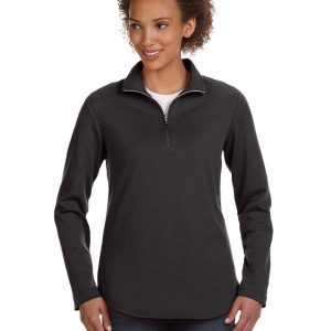 LAT 3764 - Ladies' Quarter-Zip French Terry Pullover