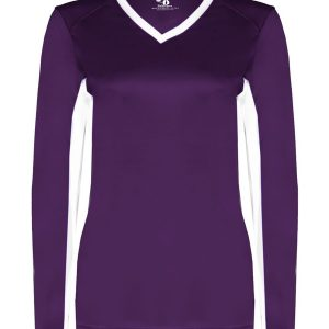 Badger 6164 - Ladies' Core Performance Dig Long-Sleeve Tee with Contrast Sleeve Panels