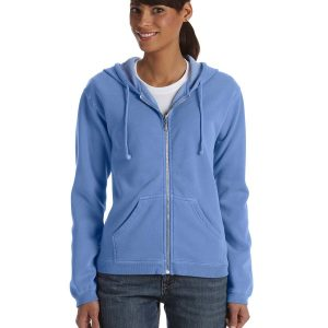 Comfort Colors C1598 - Ladies' 9.5 oz. Full-Zip Hooded Sweatshirt