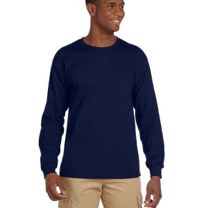 Gildan G241 - Adult Ultra Cotton® 6 oz. Long-Sleeve Pocket T-Shirt