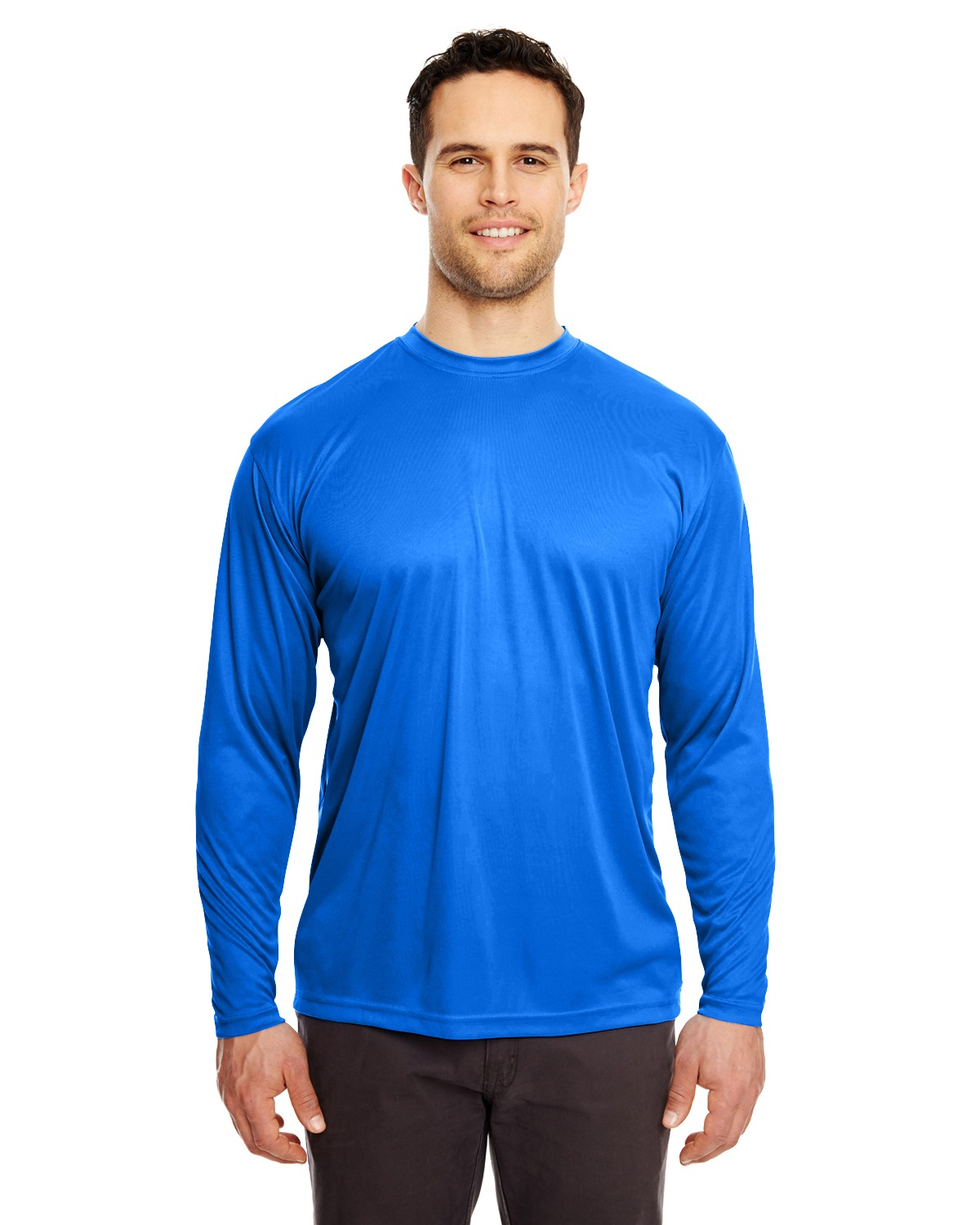 UltraClub 8422 – Adult Cool & Dry Sport Long-Sleeve Performance Interlock T-Shirt 1